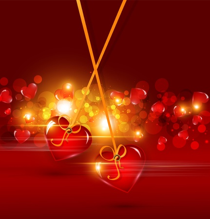 festive background for Valentine Vector