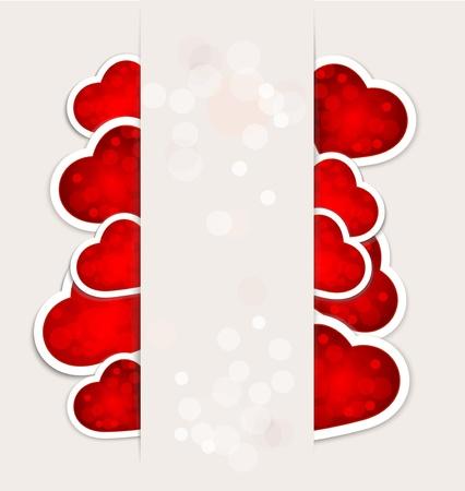 carta de amor: de fondo a una fiesta de San Valentín con corazones de papel