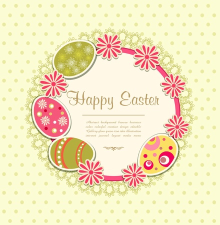 egg plant: Easter holiday background