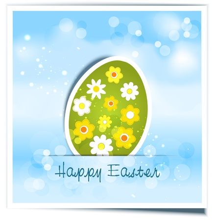 background with festive Easter egg Vector
