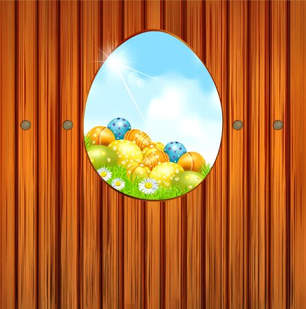 background of Easter Vector