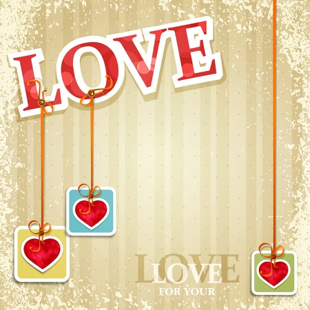 vintage, grunge background for Valentine's Day Stock Vector - 11906922