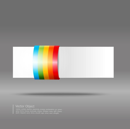 abstract banner on a gray background Stock Vector - 12003668
