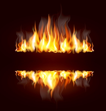 background with a burning flame and place for text