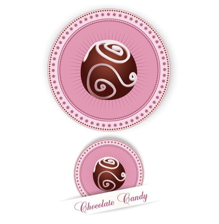 chocolate swirl: label with the Chocolates