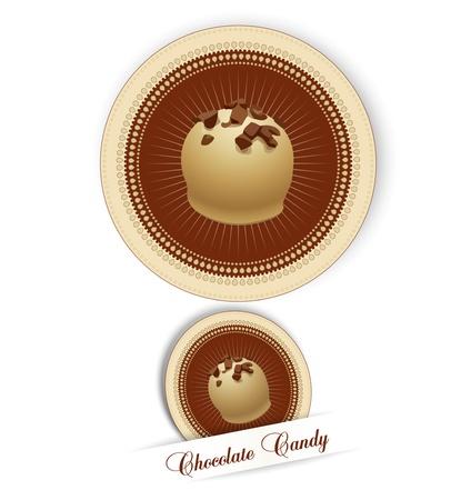 un'etichetta con i Cioccolatini