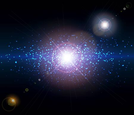 star dust:  abstract background space Illustration