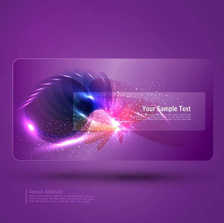 Glowing Purple abstract background with place for text Vector