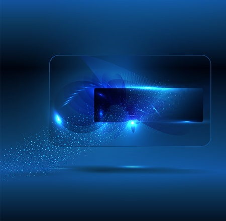 Glowing blue  abstract background with place for text Vector