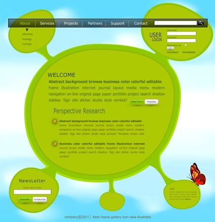 vector website template Stock Vector - 12488297