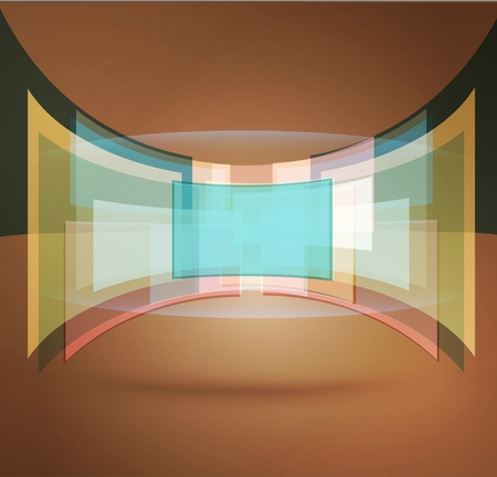 multi layered: vector abstract background with pastel colors
