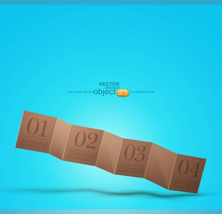 cardboard banner on a blue background, vector design element Stock Vector - 12488374