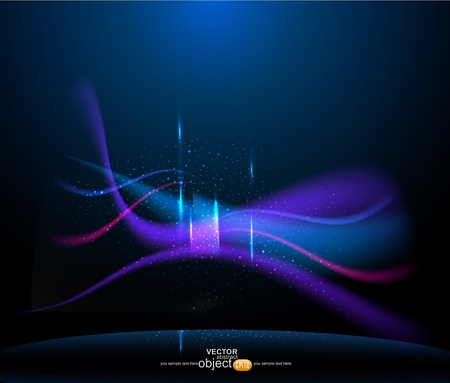 vector abstract background with lights and stars