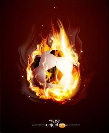 Vector abstract background with a burning football Ball Stock Vector - 12488470