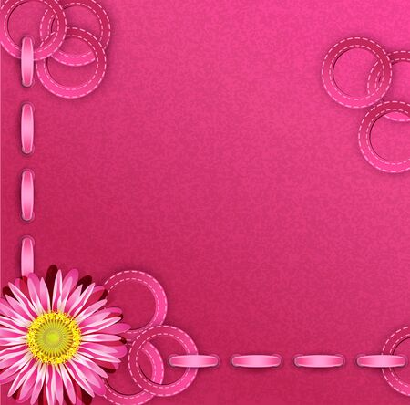 Vector festive pink background with ribbons Stock Vector - 12488472
