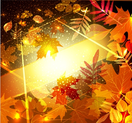 background with autumn leaves Ilustracja