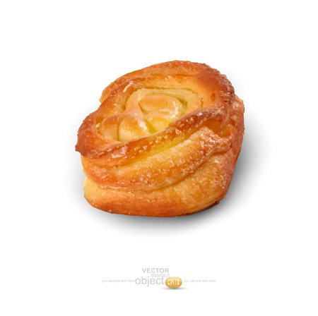 sweet bun: sweet bun  isolated on a white background Illustration