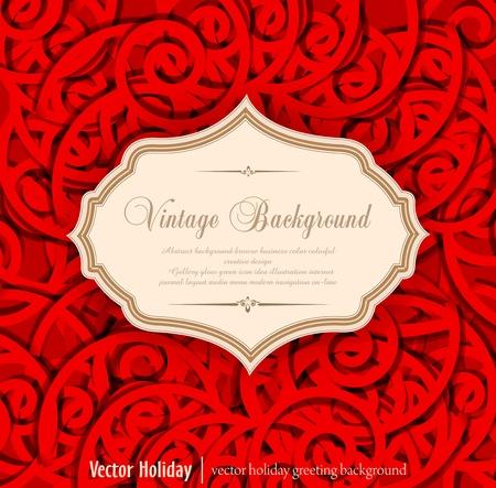 fancy border: rojo, vacaciones, fondo vintage