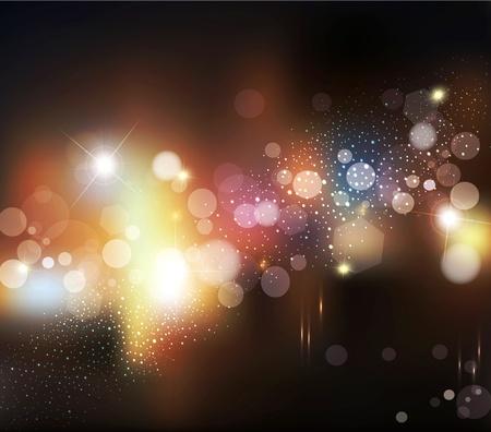 Resumen de vectores de fondo con las luces borrosas defocused