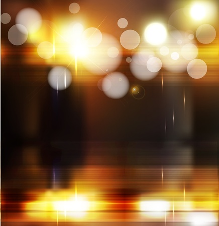 vector abstract background with blurred defocused lights Stock Vector - 13013111
