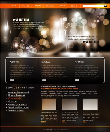 website window: Vector website template for business Illustration