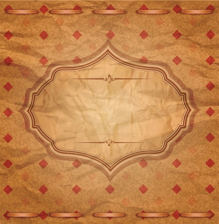 vector, vintage congratulatory background of crumpled paper Stock Vector - 13013103