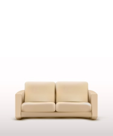 leather armchair: vector sofa (furniture item) Illustration