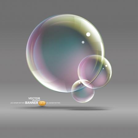 bolle su uno sfondo grigio