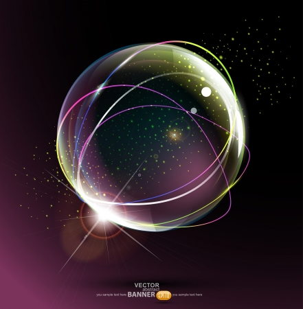 abstract space ball on a dark background Vector
