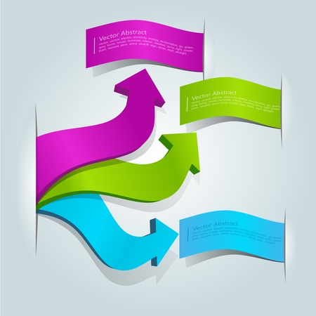 colorful 3d arrows with labels for text
