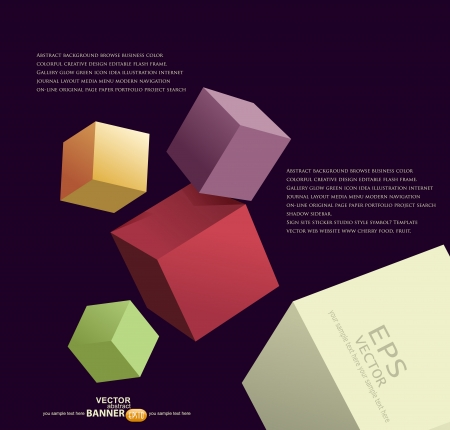 さまざまな色の 3 d のキューブと抽象的な背景