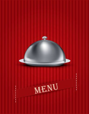vintage striped background with menu items Vector