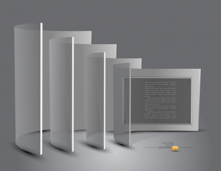 3d stand with transparent panels Vector