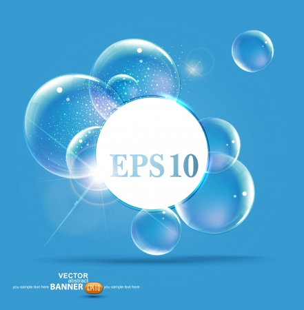 bubbles on a blue background Vector