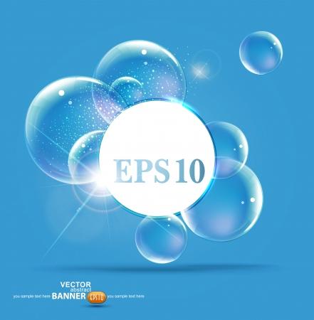 bubbles on a blue background Ilustracja