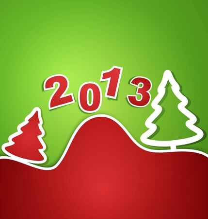 holiday new year 2013 background Stock Vector - 16442748