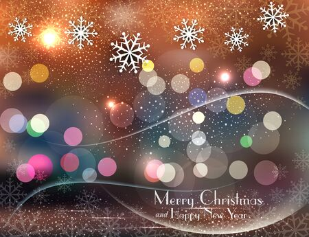 colored christmas background with snowflakes Stock Vector - 16584469