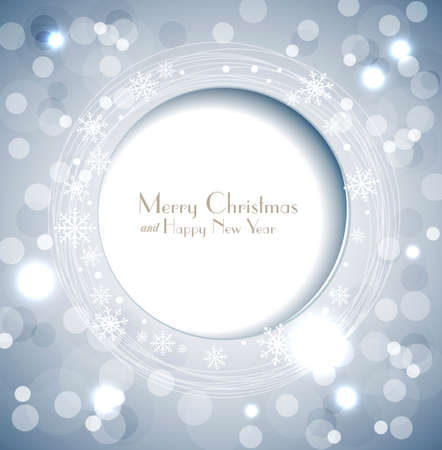 shiny holiday background with snowflakes and frame Stock Vector - 16805098