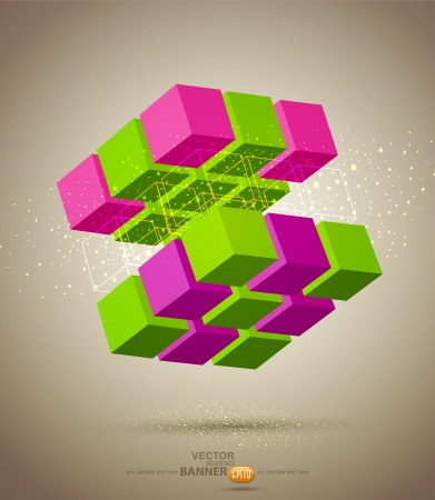 vector abstract colorful Rubik