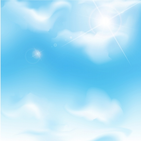 sunlight sky: vector blue sky