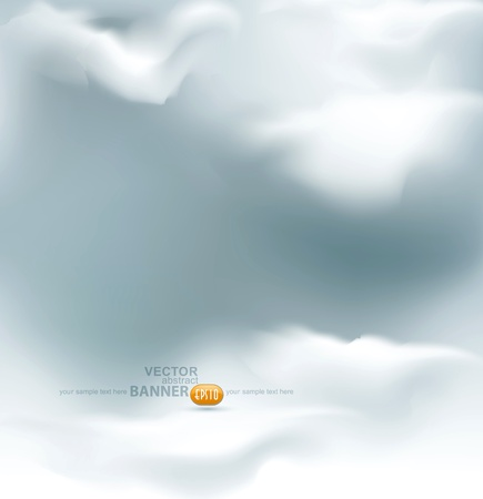 cloudy day: vector grey sky