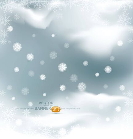 ight: vector background with flying snow flakes Illustration