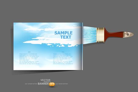 vector background / brochure with a brush which draws the sky Stock Vector - 17470840