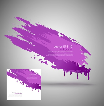 element for design in the form of purple paint smear Stock Vector - 17470848