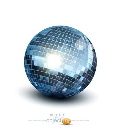 Vector disco ball on a white background Stock Vector - 17591011