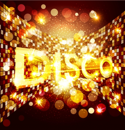 vector disco background Stock Vector - 17591015