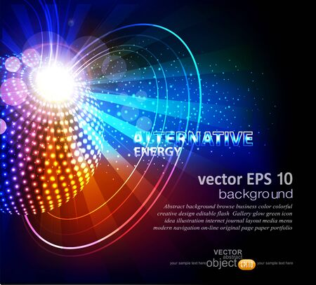 vector abstract background with ball Stock Vector - 17772228