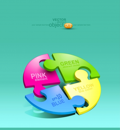 vector element for design colored puzzles Vector