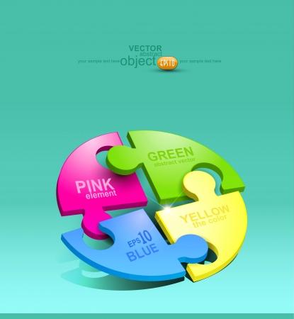 vektor element för design färgade pussel