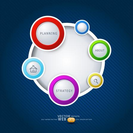 웹 디자인을위한 벡터 요소